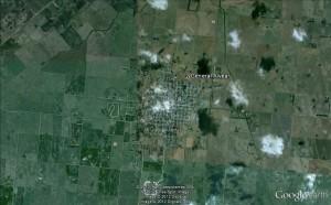 Gral Alvear, Prov. de Buenos Aires, imagen satelital