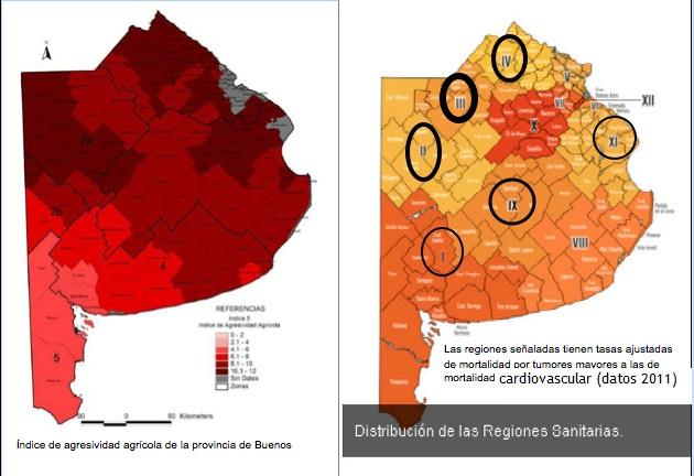 Partidos por consumo de agrotóxicos y su coincidencia con partidos con mortalidad por cáncer elevada